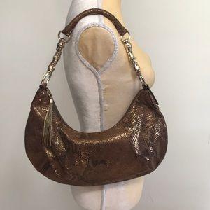 Banana Republic Genuine Leather Snakeskin Hobo Bag